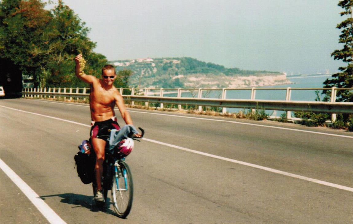 Wendelin auf dem Weg nach Griechenland