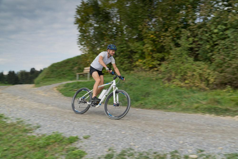 Wendelin auf dem e-Bike